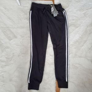 NWT Adidas three stripe jogging pants sz S